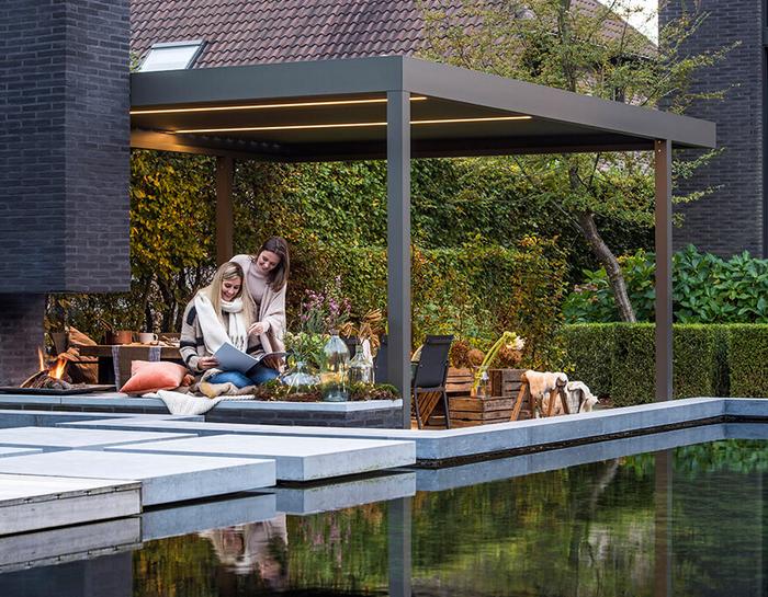 profiter de sa terrasse en hiver avec une pergola bioclimatique