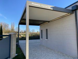 Carport Charente en structure aluminium