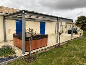 Spa terrasse pergola bioclimatique Charente